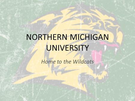 NORTHERN MICHIGAN UNIVERSITY Home to the Wildcats.