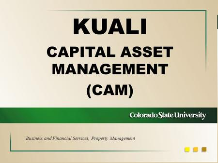 KUALI CAPITAL ASSET MANAGEMENT (CAM) Business and Financial Services, Property Management.