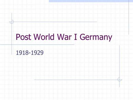 Post World War I Germany 1918-1929. 2 Crisis and Conflict: Impact of World War I Copyright 2006 Millions of dead, wounded or homeless people Millions.