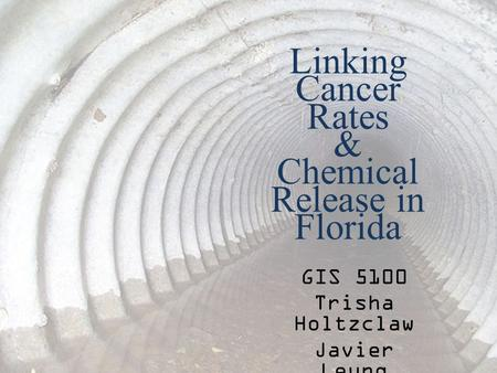 Linking Cancer Rates & Chemical Release in Florida GIS 5100 Trisha Holtzclaw Javier Leung.