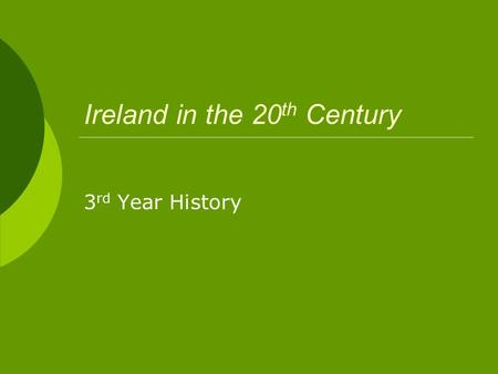 Ireland in the 20 th Century 3 rd Year History. Divisions  Pro-Treaty (Regulars or Free State Army) V Anti Treaty (Irregulars or Republicans)  Both.