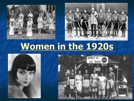 Women in the 1920s. Women in the Home Women were mainly seen as homemakers. Women were mainly seen as homemakers. Girls' education was aimed at preparing.
