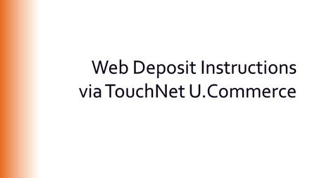 Web deposits replace the Clemson University Receipt Transmittal, used only for CU deposits, funds 10-49. With web department deposits, you can now enter.