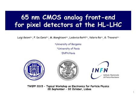 65 nm CMOS analog front-end for pixel detectors at the HL-LHC