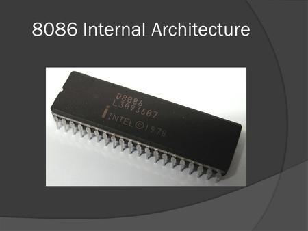 8086 Internal Architecture