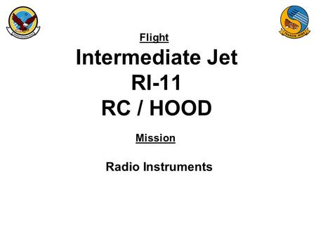 Flight Mission Intermediate Jet RI-11 RC / HOOD Radio Instruments.