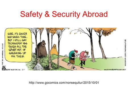 Safety & Security Abroad