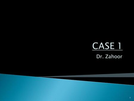 Dr. Zahoor 1. A 26 year old woman presents to the ER complaining of sudden onset of palpitations and severe shortness of breath and coughing. She reports.