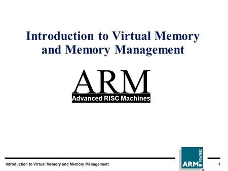 Introduction to Virtual Memory and Memory Management