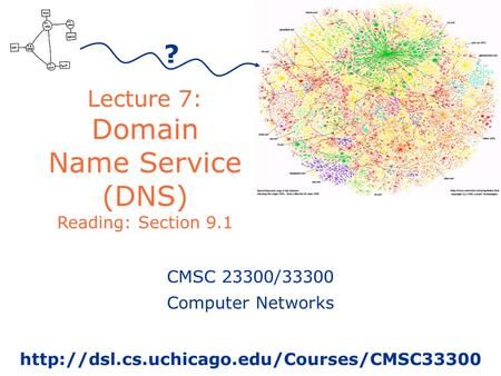 Lecture 7: Domain Name Service (DNS) Reading: Section 9.1 ? CMSC 23300/33300 Computer Networks
