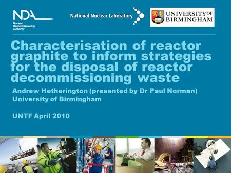 university of manchester powerpoint template - nuclear graphite research group university of manchester