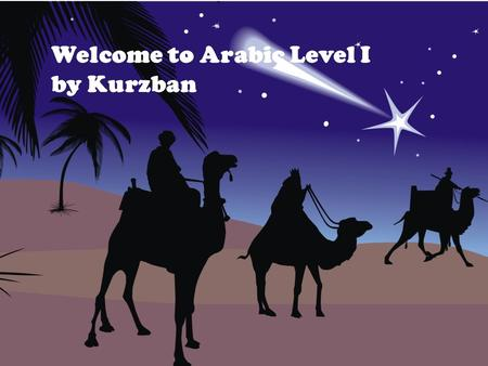 Welcome to Arabic Level I by Kurzban. Lesson 9: الدرس التاسع Objectives: Connecting the letters  Review: Pronouns  Inquiring about and identifying place.
