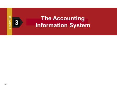 The Accounting Information System 3.
