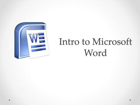 Intro to Microsoft Word. Word Window 1. File Tab 2. Quick Access Bar 3. Title Bar 4. Ribbon 5. Tab 6. Group 7. Buttons & Menus 8. Dialog Box Launcher.
