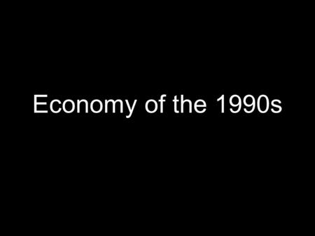 "Economy of the 1990s. 1990 Budget Enforcement Act Created caps for discretionary spending and created ""pay-as-you-go"" rules for certain taxes and certain."