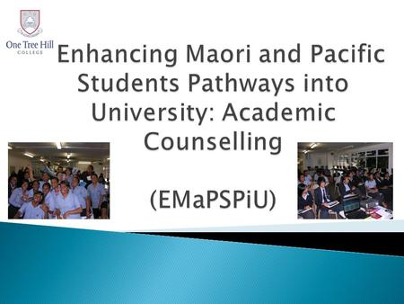 Starpath research has identified : Major barriers to a successful transition to University education for Maori, Pacific & other students in low decile.