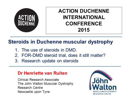 ACTION DUCHENNE INTERNATIONAL CONFERENCE