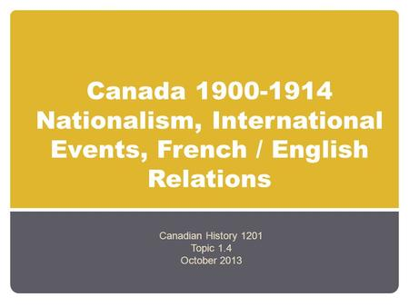 French english canadian relation