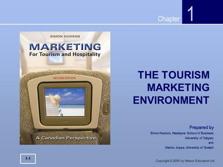 THE TOURISM MARKETING ENVIRONMENT