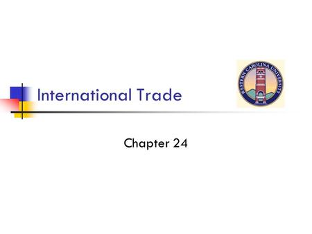 International Trade Chapter 24. Chapter 37 Figure 37.1 Production Possibilities, U.S. and Brazil.