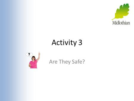 Activity 3 Are They Safe?. Activity Think about what we can do to stay safe if we meet people from the Internet.