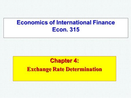 Macroeconomics: Currency