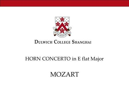 HORN CONCERTO in E flat Major MOZART