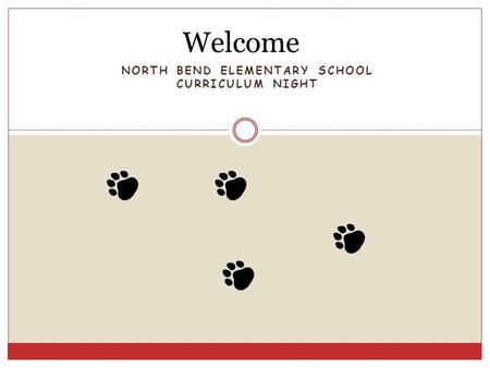 NORTH BEND ELEMENTARY SCHOOL CURRICULUM NIGHT Welcome.