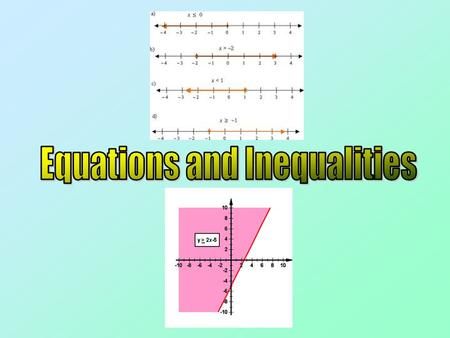 Introduction This Chapter focuses on solving Equations and Inequalities It will also make use of the work we have done so far on Quadratic Functions and.