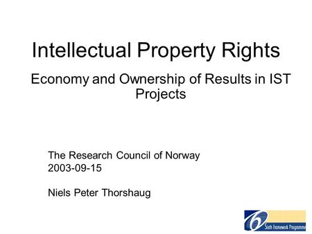 intellectual property research paper Intellectual property (ip) refers to creations of the mind, such as inventions literary and artistic works designs and symbols, names and images used universities and public research institutions are the factories of the knowledge economy discover how ip policies and knowledge transfer are critical to.