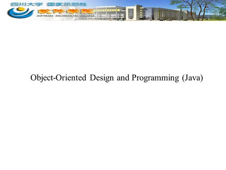 Object-Oriented Design and Programming (Java). 2 Topics Covered Today 3.1 Input and Output Programming –3.1.0 Java I/O Stream –3.1.1 File I/O –3.1.2 Using.