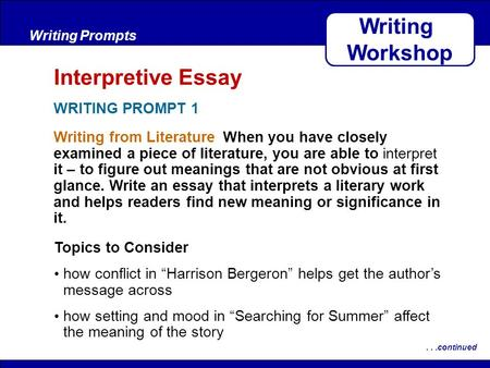 harrison bergeron literary analysis plot and conflict answers
