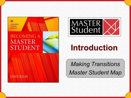 Introduction Making Transitions Master Student Map.