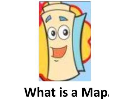 What is a Map ?. A Map is a visual representation usually on a flat surface of the whole or a part of an area.