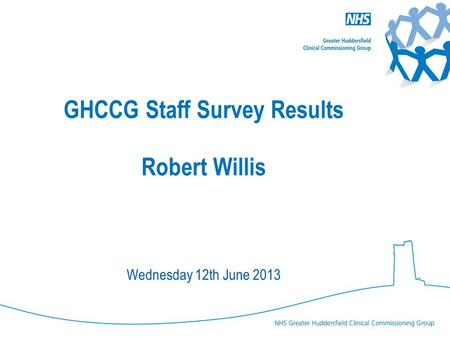 GHCCG Staff Survey Results Robert Willis Wednesday 12th June 2013.