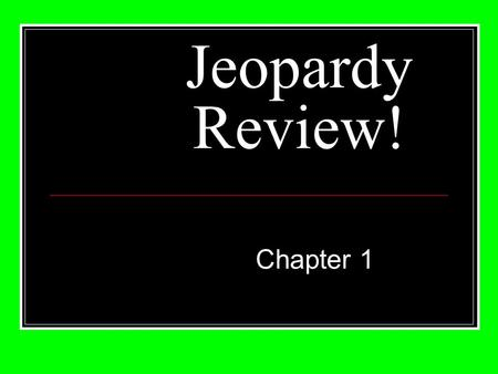 Jeopardy Review! Chapter 1. 20 30 40 50 10 20 30 40 50 10 20 30 40 50 10 20 30 40 50 10 20 30 40 50 10 Origin of The Church HolySpiritEarly Church ChurchApostles.