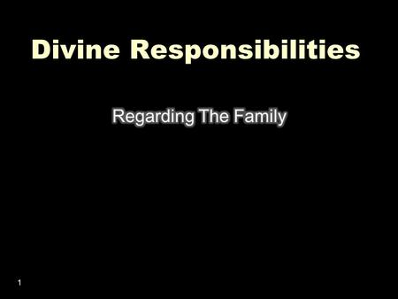1 Divine Responsibilities. 2 What Is One Of The Most Effective Ways To Destroy Your House? 3.