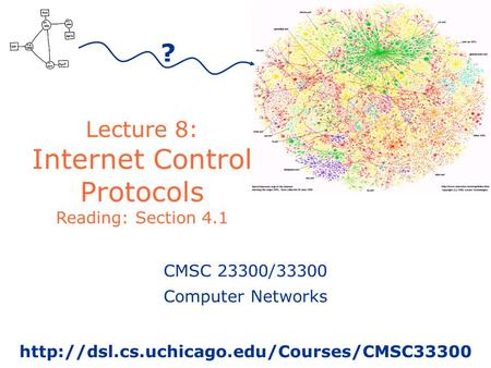 Lecture 8: Internet Control Protocols Reading: Section 4.1 ? CMSC 23300/33300 Computer Networks