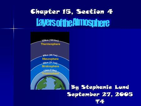 Chapter 15, Section 4 By Stephanie Lund September 27, 2005 T4.