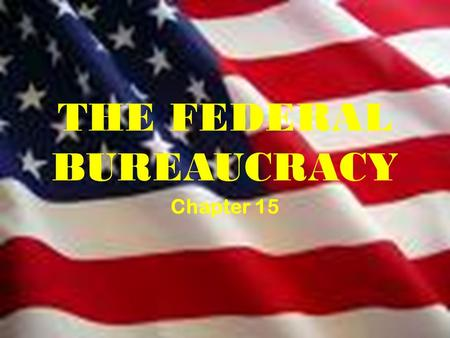 THE FEDERAL BUREAUCRACY Chapter 15. Is the bureaucracy essential to good government?