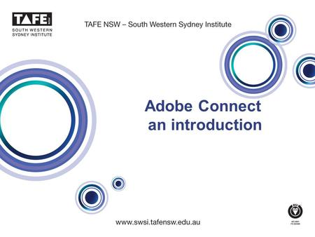 Adobe Connect an introduction. Meeting Room Interface 2 Before we start… Make sure you have the Adobe Connect plug-in installed NO PLUG-IN You can see.