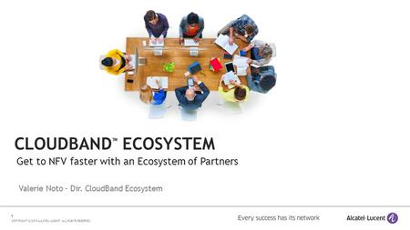 CloudBand™ ecosystem Get to NFV faster with an Ecosystem of Partners