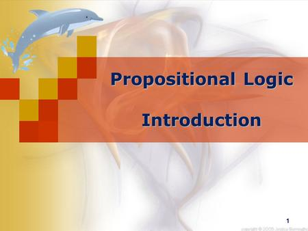 1 Propositional Logic Introduction. 2 What is propositional logic? Propositional Logic is concerned with propositions and their interrelationships. 