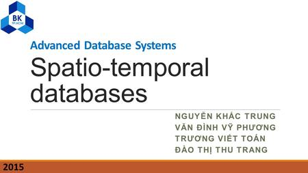 Spatio-temporal databases
