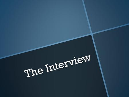 The Interview. Interview Following the events of September 11, 2001, first- person accounts of the day were recorded in a special 9-11 project. The following.
