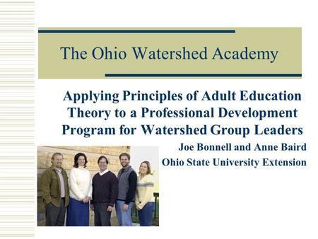 Adult education professional development