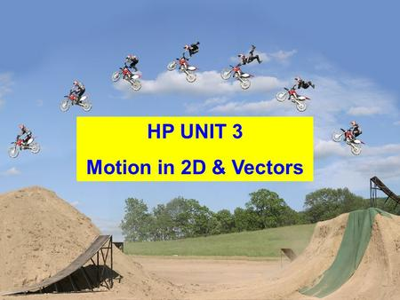 HP UNIT 3 Motion in 2D & Vectors. Consider the following 3 displacement vectors: To add them, place them head to tail where order doesn't matter d1d1.