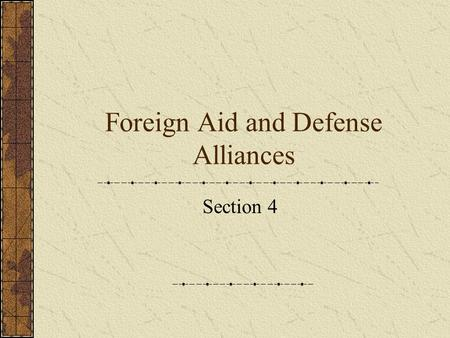 Foreign Aid and Defense Alliances