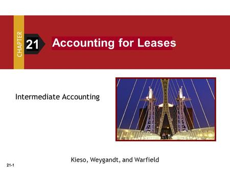 21 Accounting for Leases Intermediate Accounting