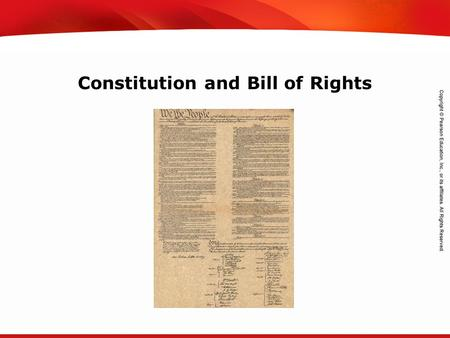 TEKS 8C: Calculate percent composition and empirical and molecular formulas. Constitution and Bill of Rights.
